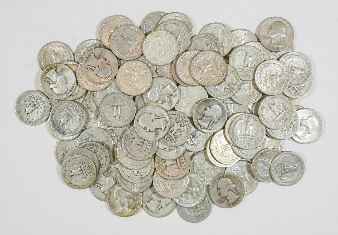 Group of [100] Silver Washington Quarters