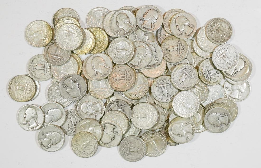Group of [100] Silver Washington Quarters