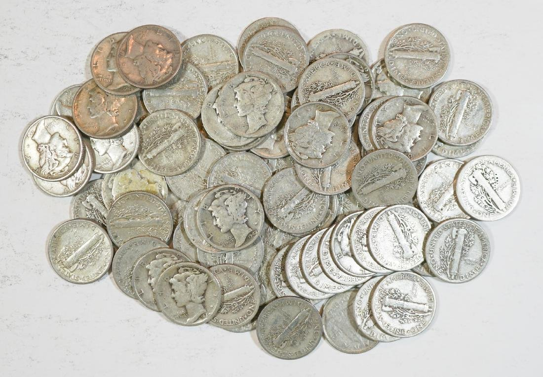 Group of [74] Mercury Head U.S. Silver Dimes