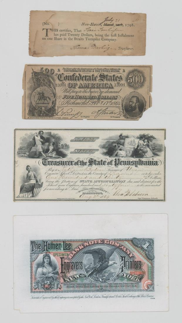 Homer Lee Note Trade Card and Antique Check