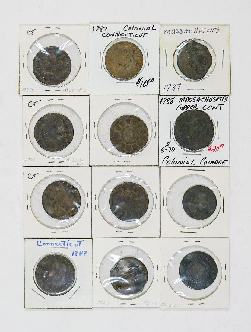 Estate Collection: U.S. Colonial Coinage (12) Pcs.