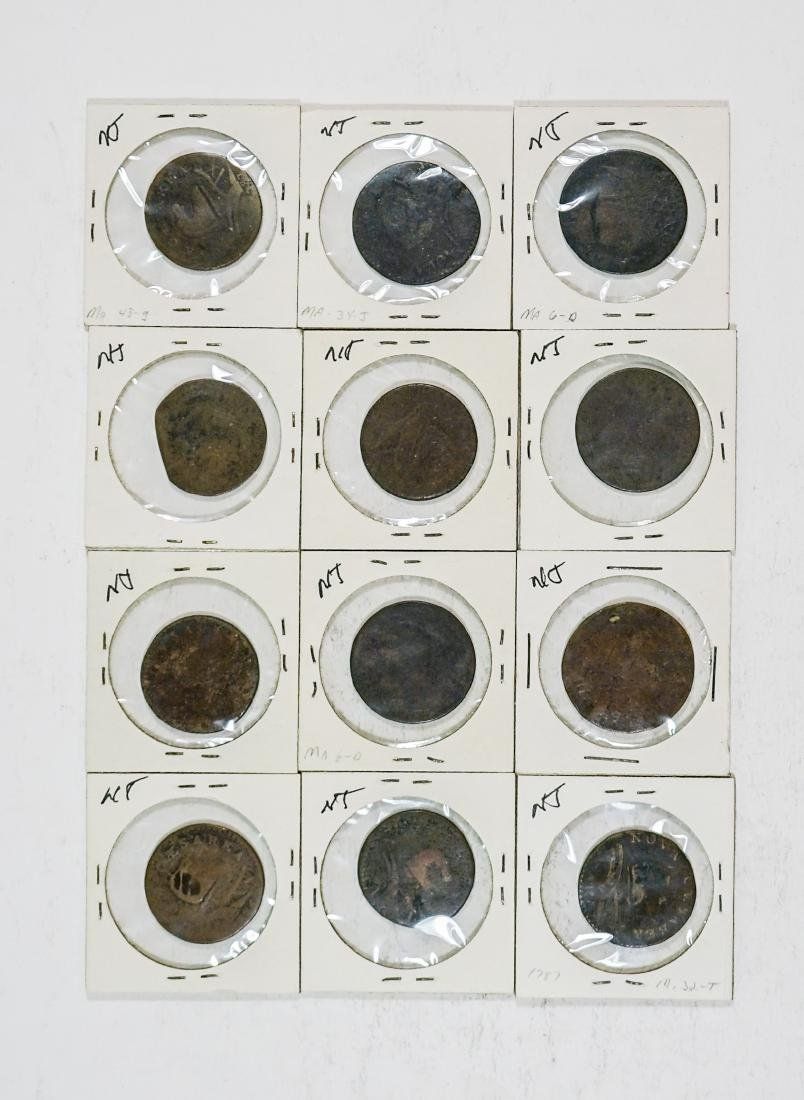 Estate Collection: U.S Colonial Coinage (12) Pcs.