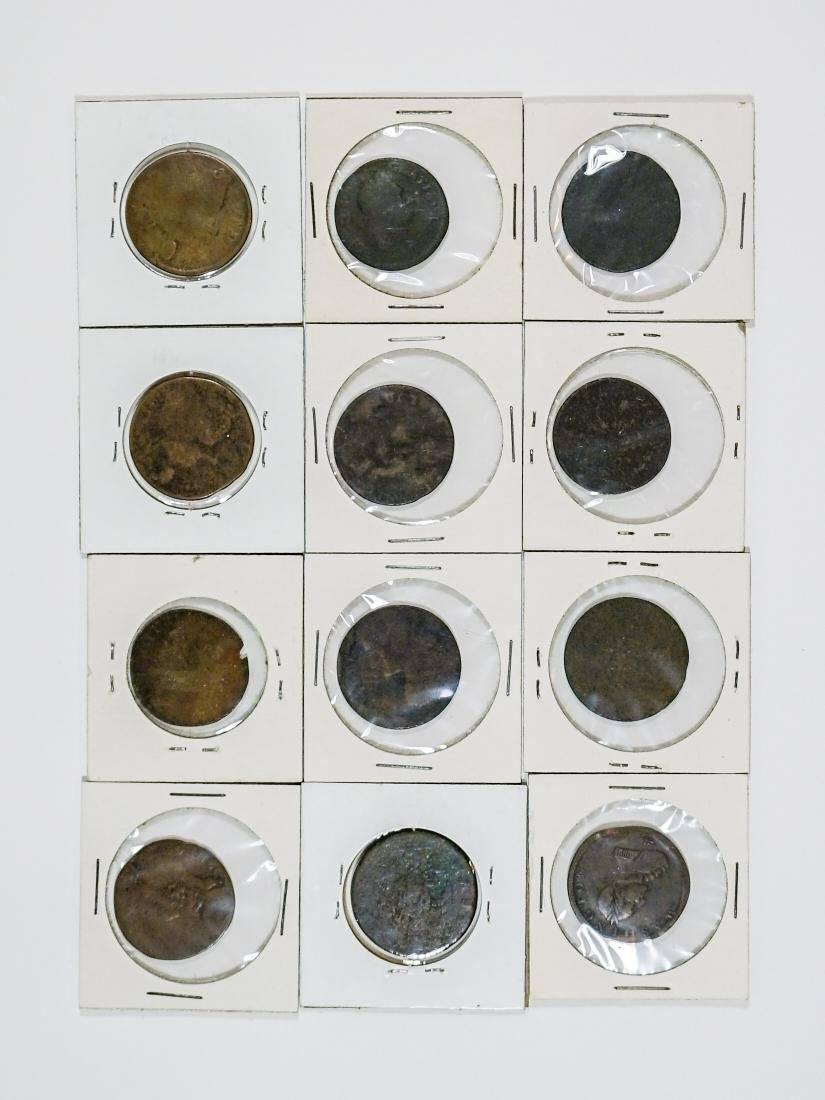 Estate Collection: U.S. Colonial Coinage (12) Pcs. - 2