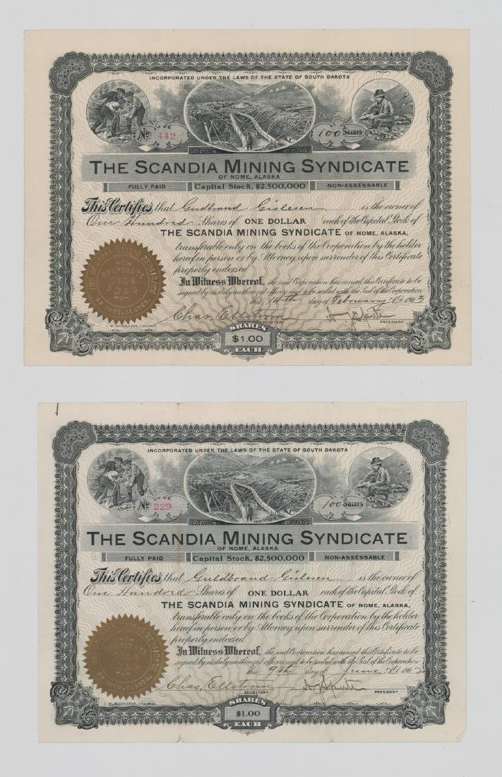 Two Scandia Mining  Stocks (Nome, Alaska)