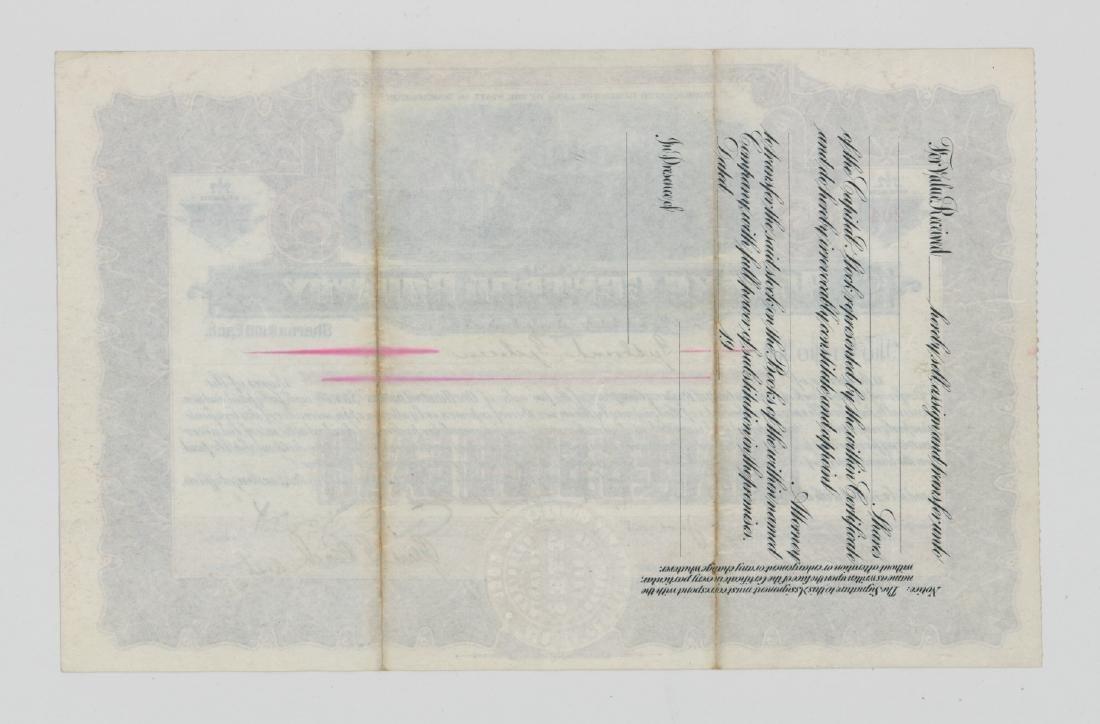 Alaska Central Railway Co. Stock Certificate 1908 - 2