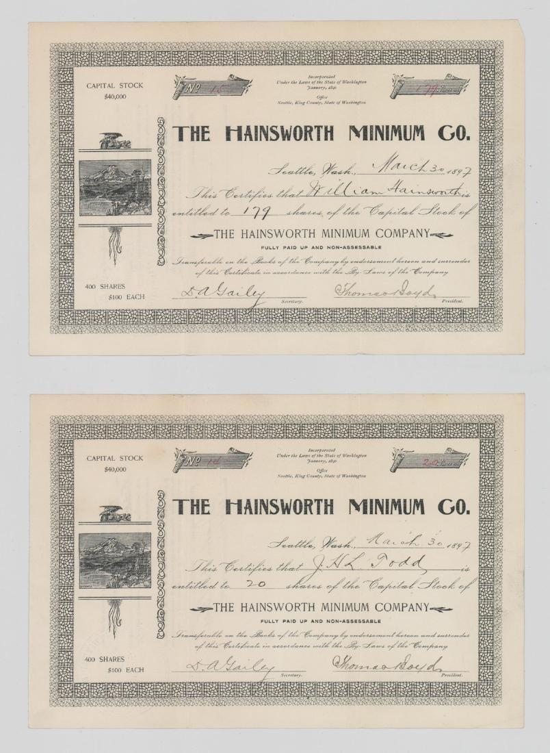 Hainsworth Minimum Co. (Washington) Stocks