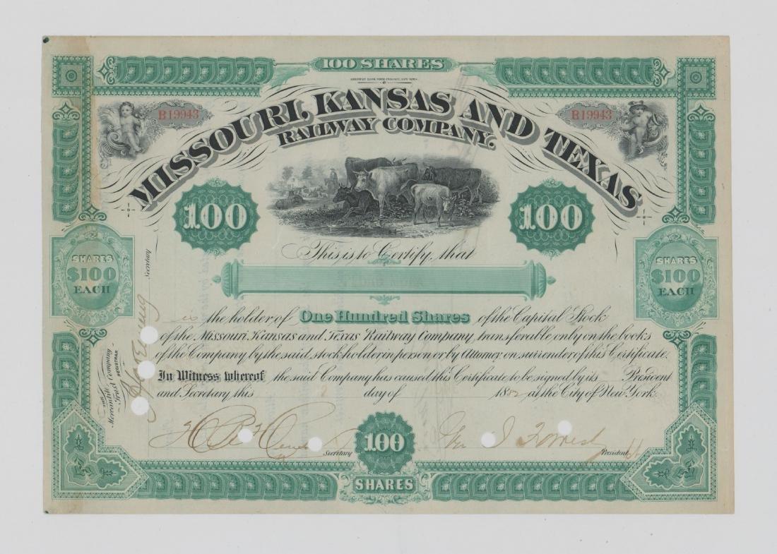 MKT Railway Stock Certificate