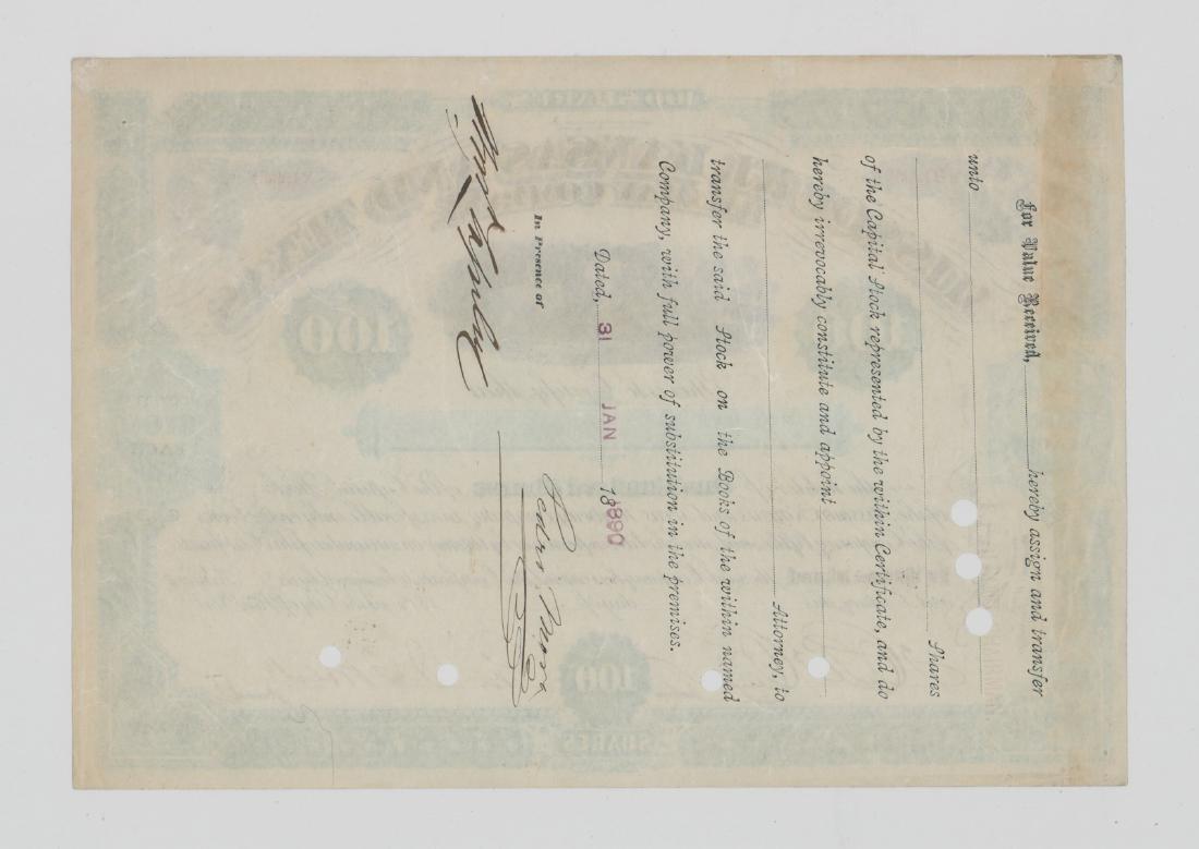 MKT Railway Stock Certificate - 2