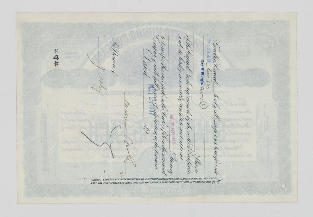 North Butte Mining Company Stock Certificate - 2