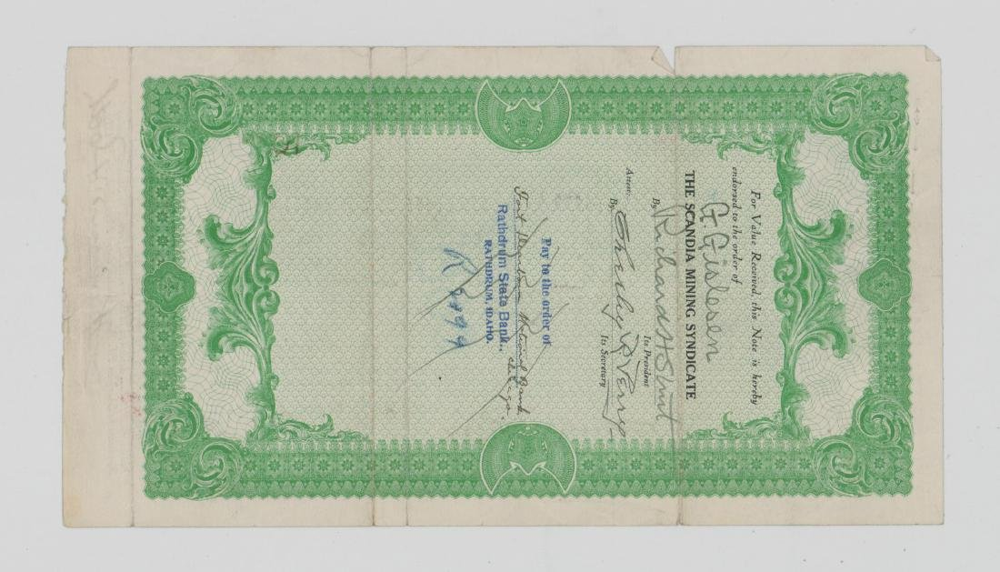 The Scandia Mining Syndicate Stock Certificate - 2