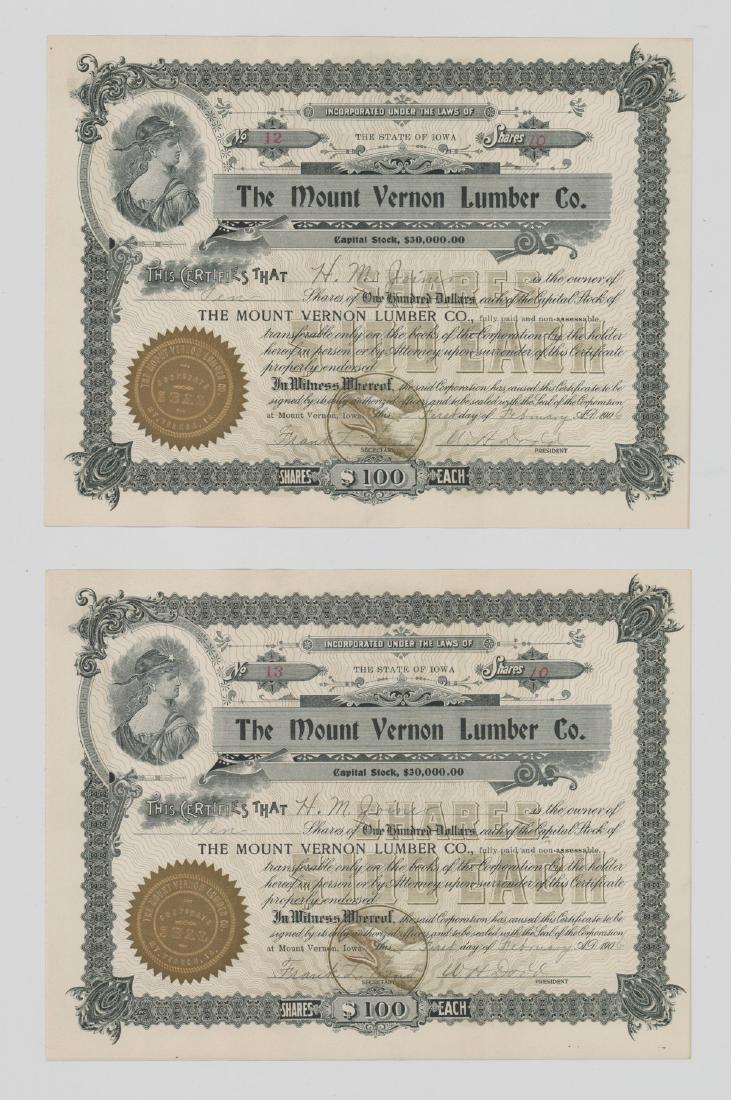 Twenty-One Mount Vernon Lumber Stock Certs - 6