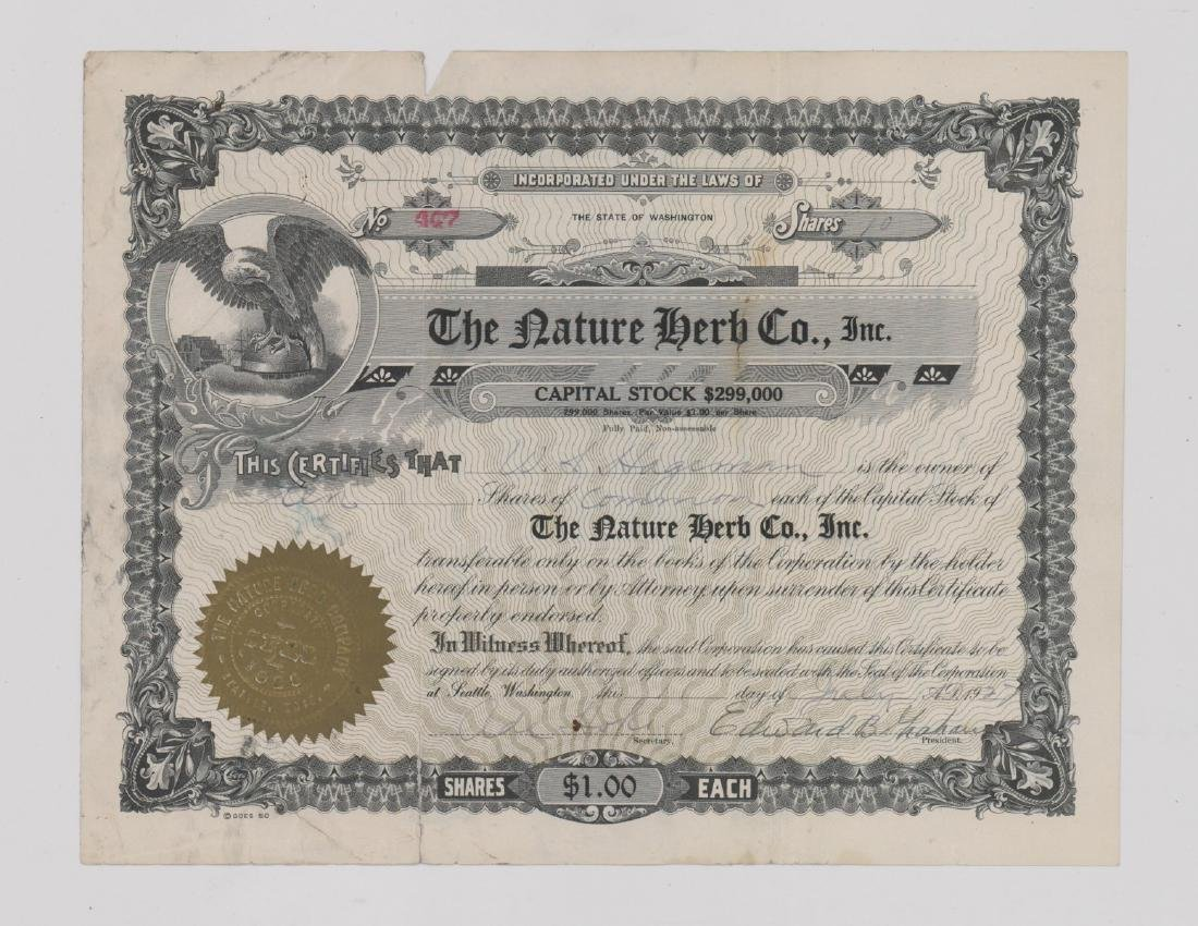 Group of Stock Certificates and Documents - 2