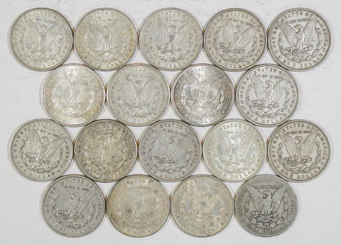Eighteen U.S. Morgan Silver Dollars 1878-1921 - 2