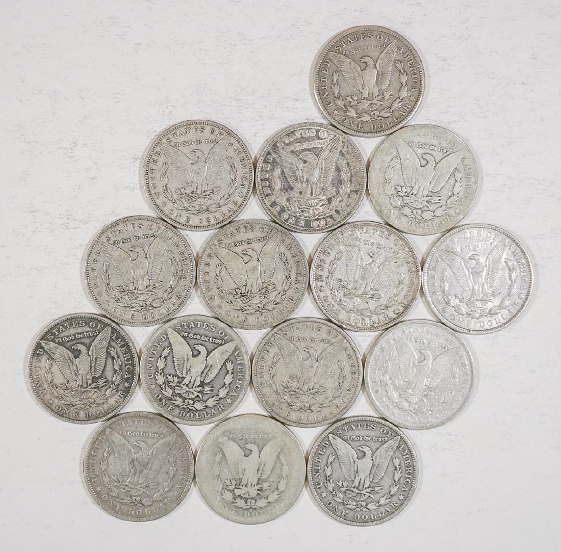 Fifteen U.S. Morgan Silver Dollars 1878-1921 - 2