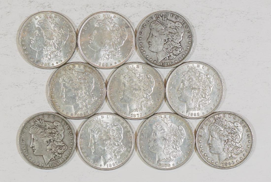 Ten Better U.S. Morgan Silver Dollars - 2