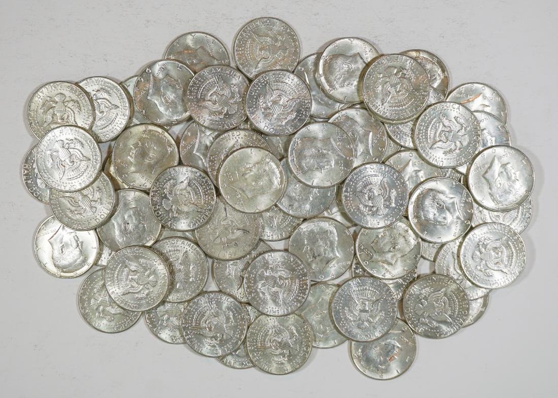 Sixty-Seven 1964 Kennedy Half Dollars