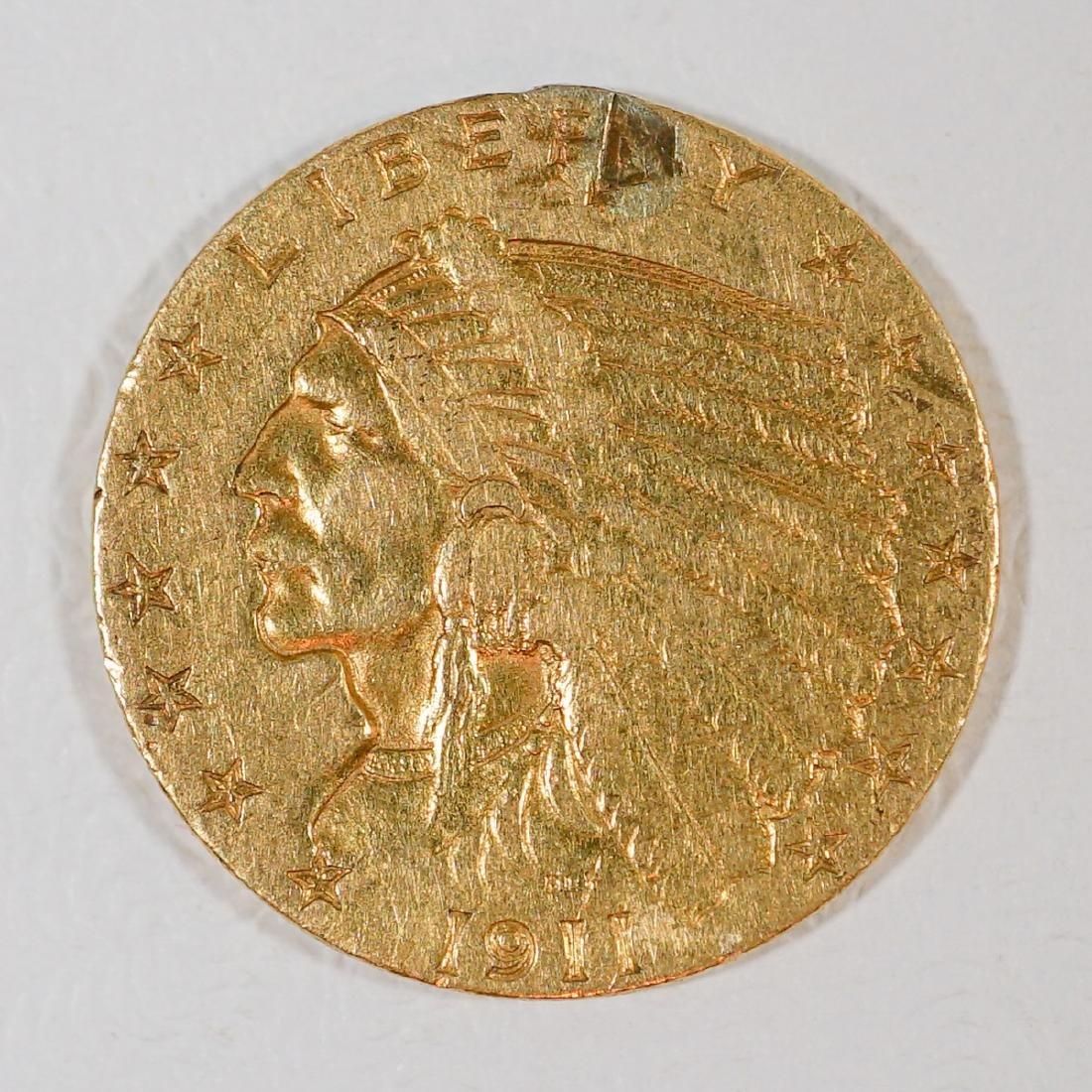 1911 $2 1/2 Dollar U.S. Gold Piece
