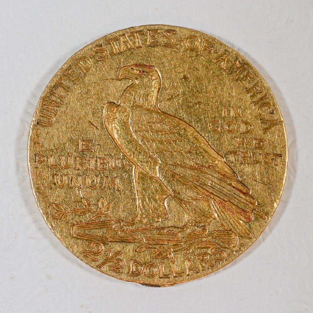 1911 $2 1/2 Dollar U.S. Gold Piece - 2
