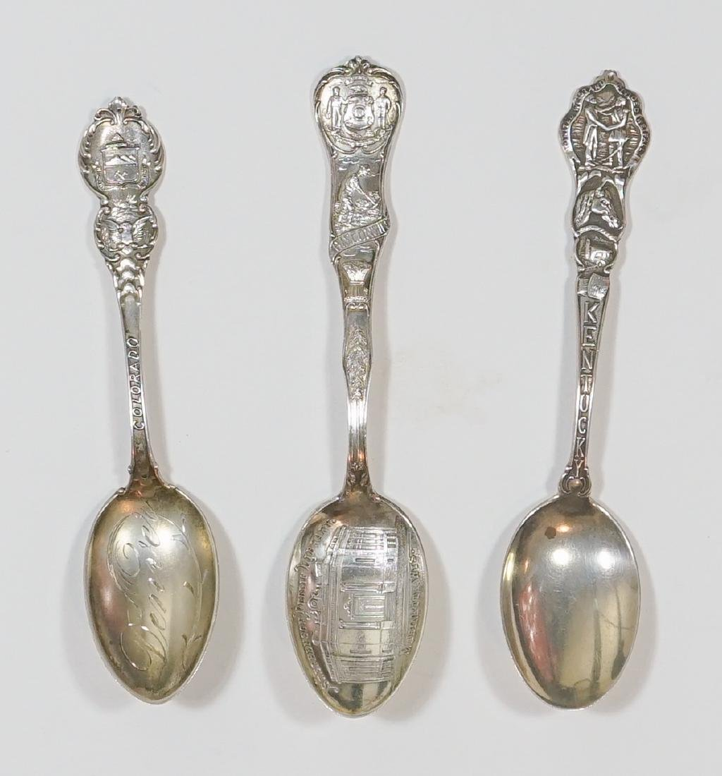 A Large Group of Sterling Souvenir Spoons, 7 ozt - 3