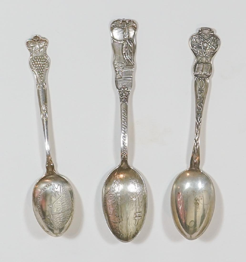 A Large Group of Sterling Souvenir Spoons, 7 ozt - 4