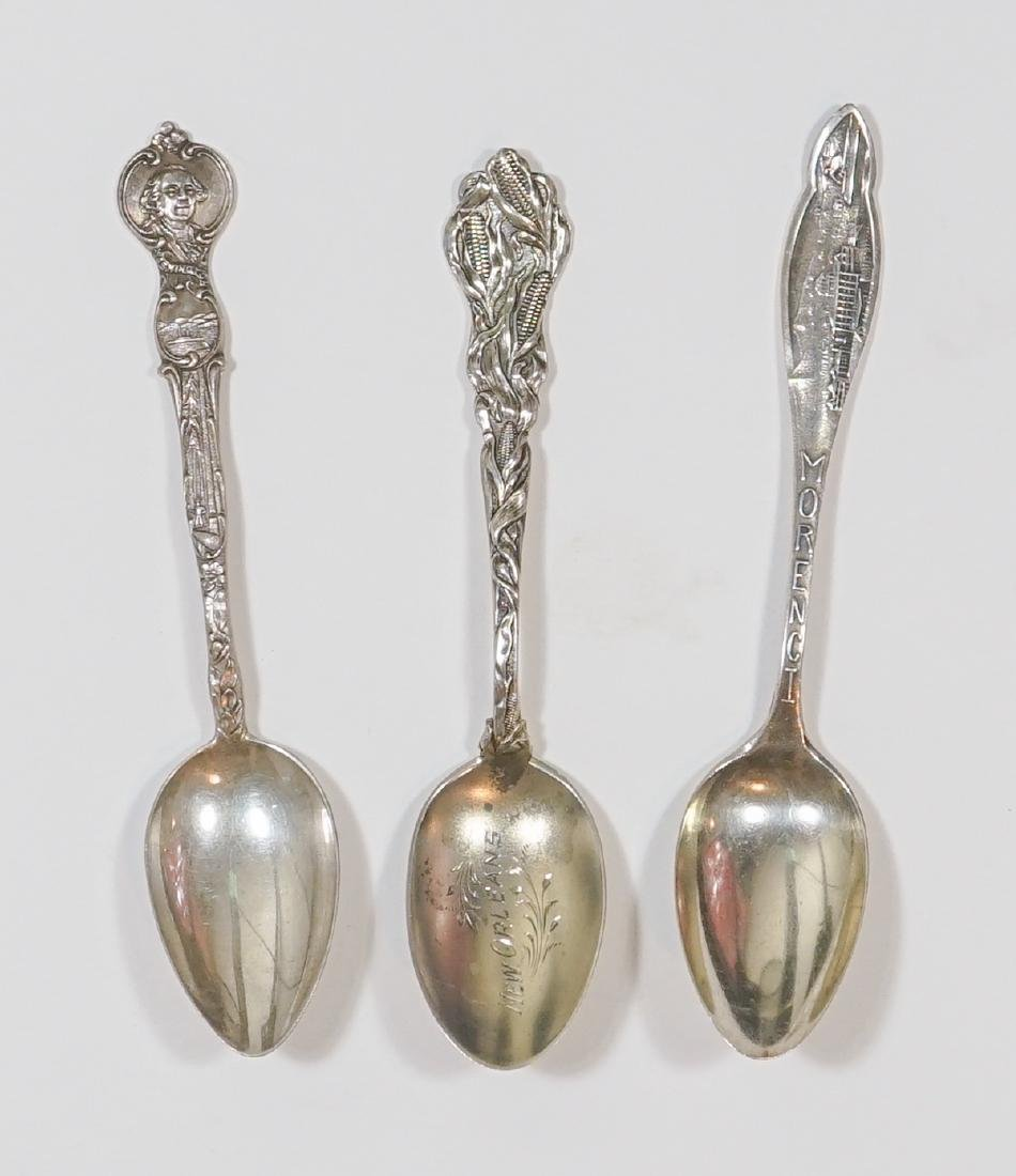 A Large Group of Sterling Souvenir Spoons, 7 ozt - 5