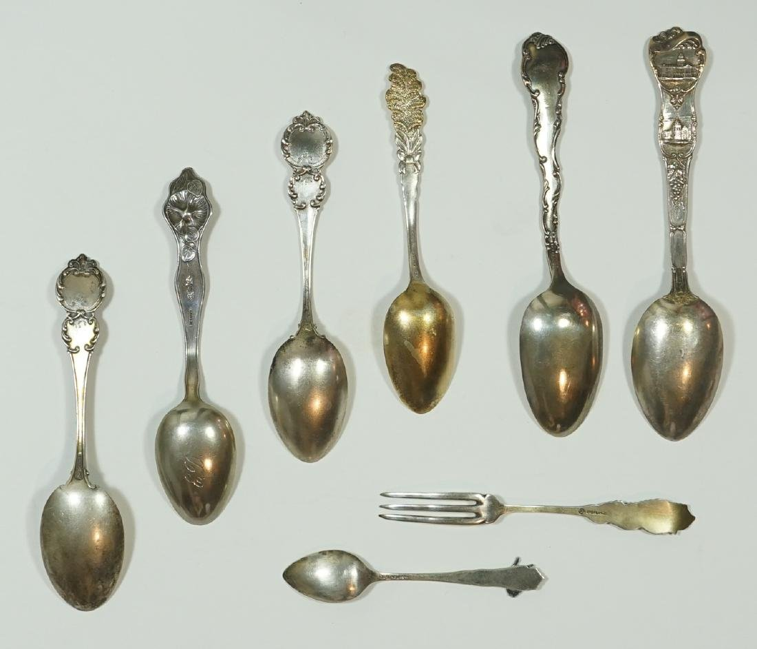 A Group of Eight Sterling Souvenir Spoons - 2