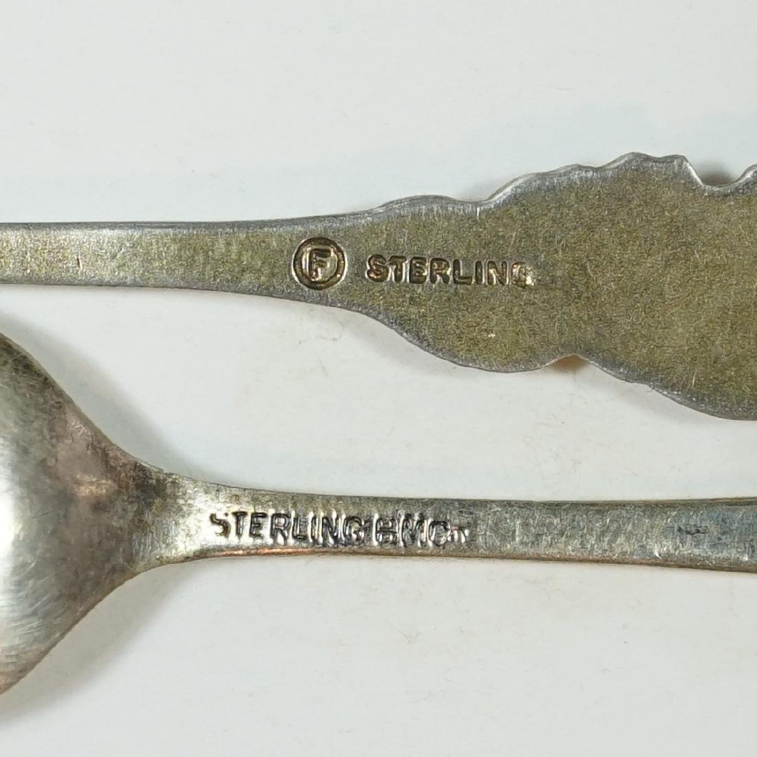 A Group of Eight Sterling Souvenir Spoons - 3