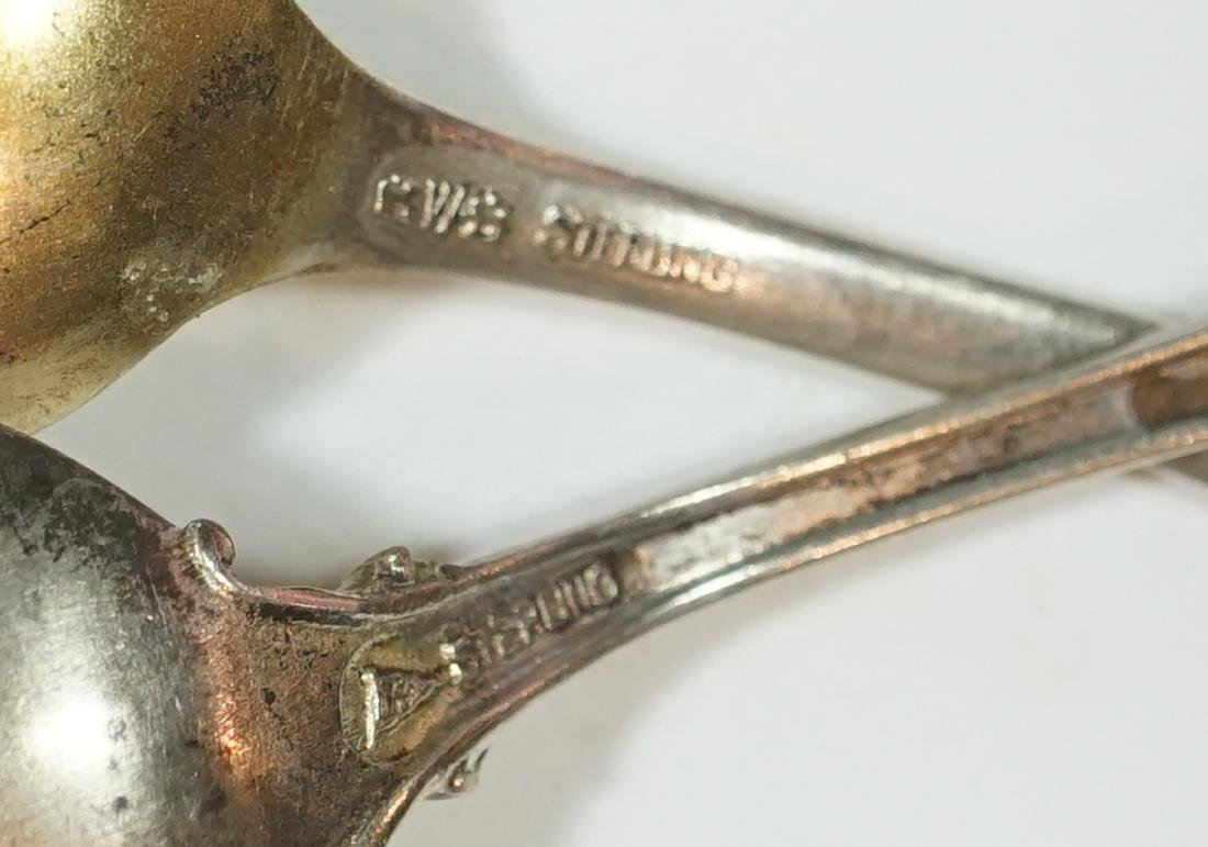 A Group of Eight Sterling Souvenir Spoons - 5