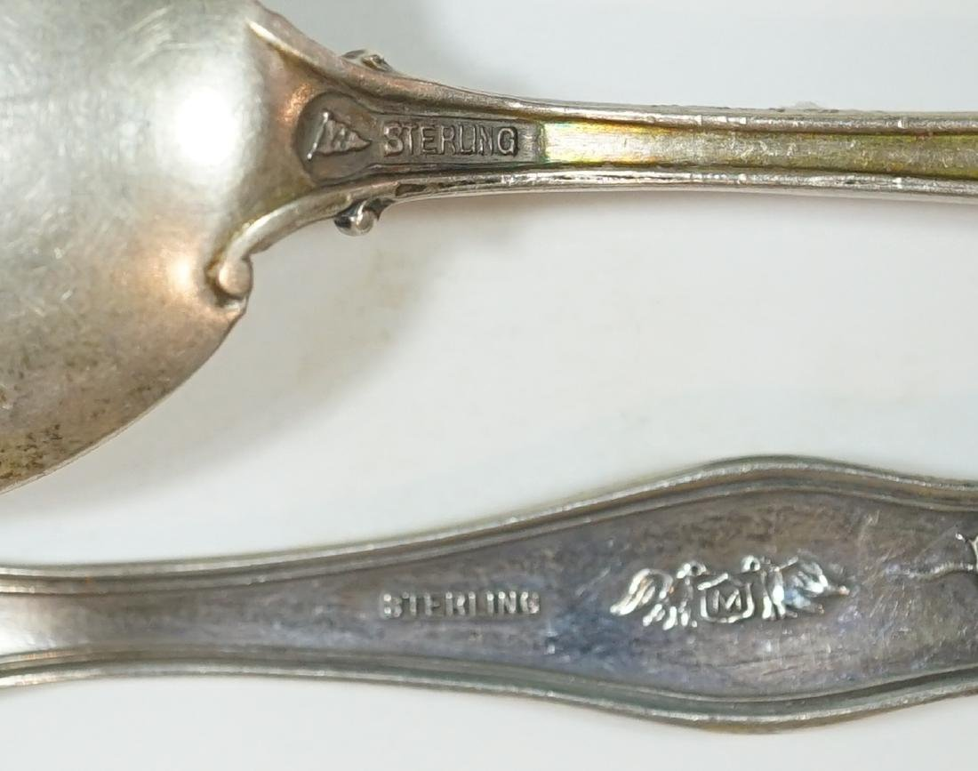 A Group of Eight Sterling Souvenir Spoons - 6