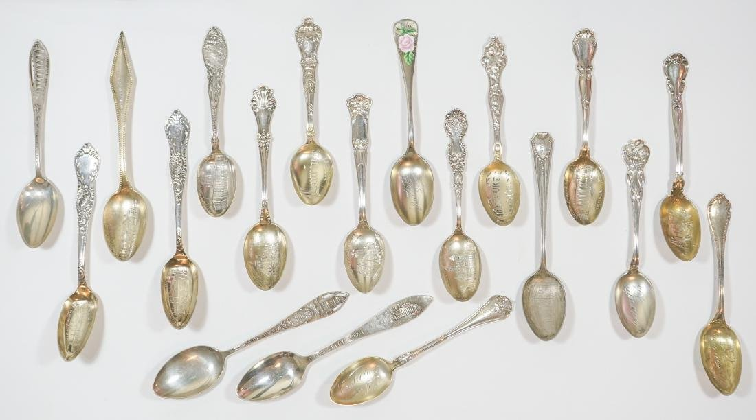 A Group of Sterling Souvenir Spoons