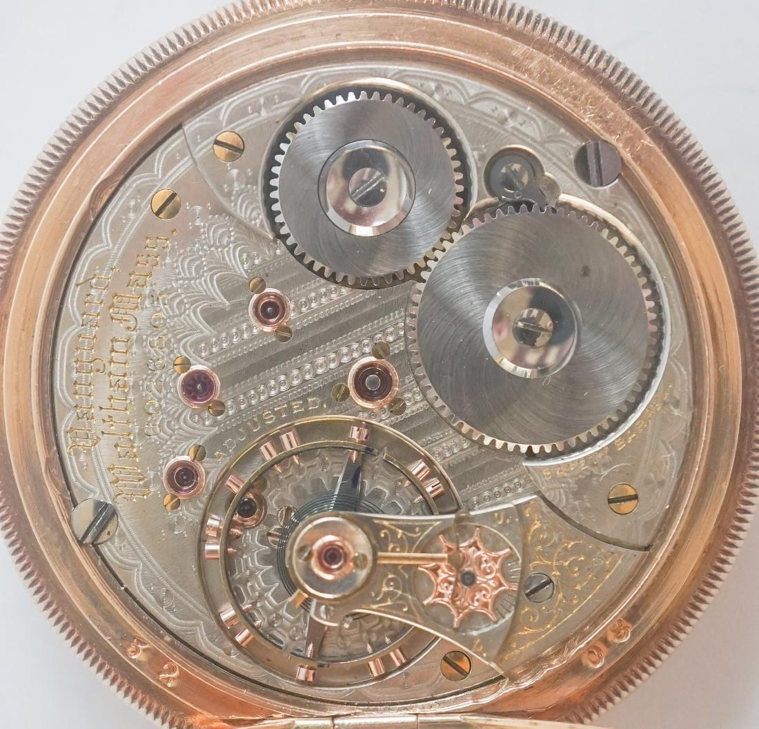 Waltham Vanguard 14K Gold Pocket Watch Size 16 - 6