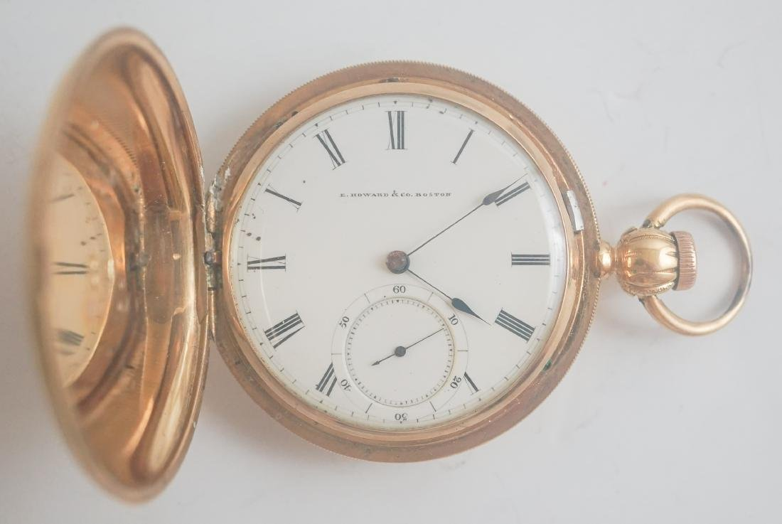 E. Howard & Co. 18K Key Wind Pocket Watch, Size 18