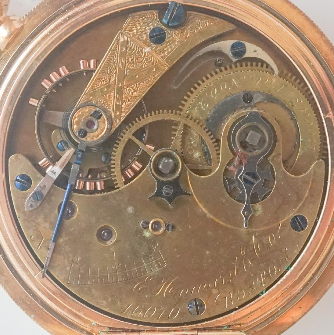 E. Howard & Co. 18K Key Wind Pocket Watch, Size 18 - 2