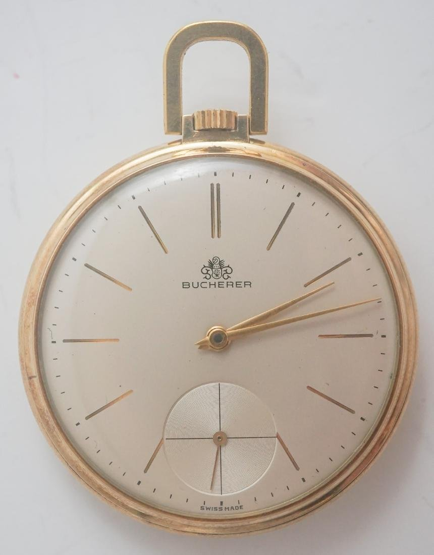 Bucherer 14k Gold Pocket Watch