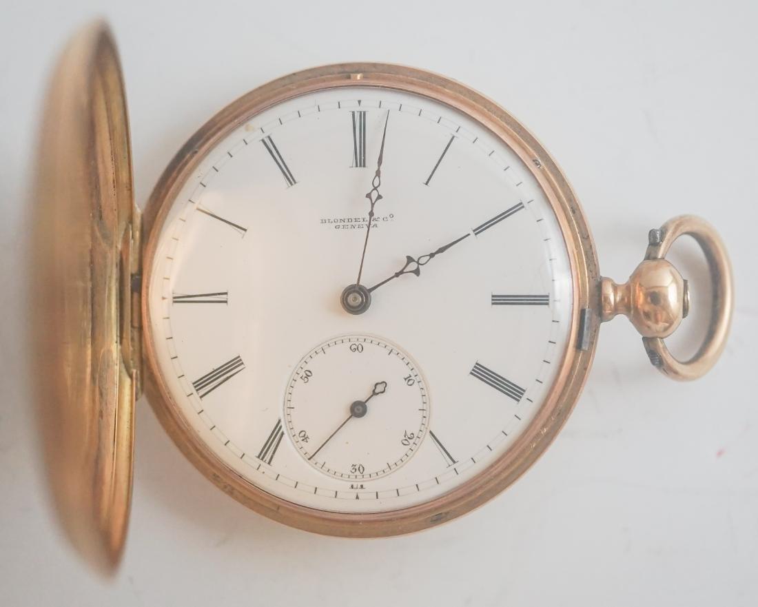 Blondel 14k Gold Key Wind Pocket Watch