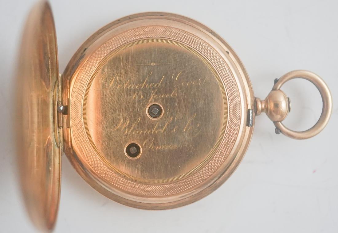 Blondel 14k Gold Key Wind Pocket Watch - 3
