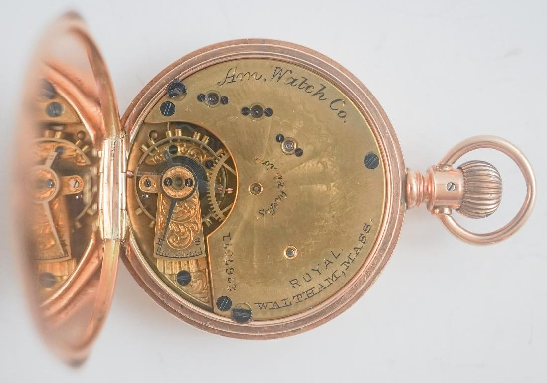 American Waltham 14k Gold Ladies Pocket Watch - 6