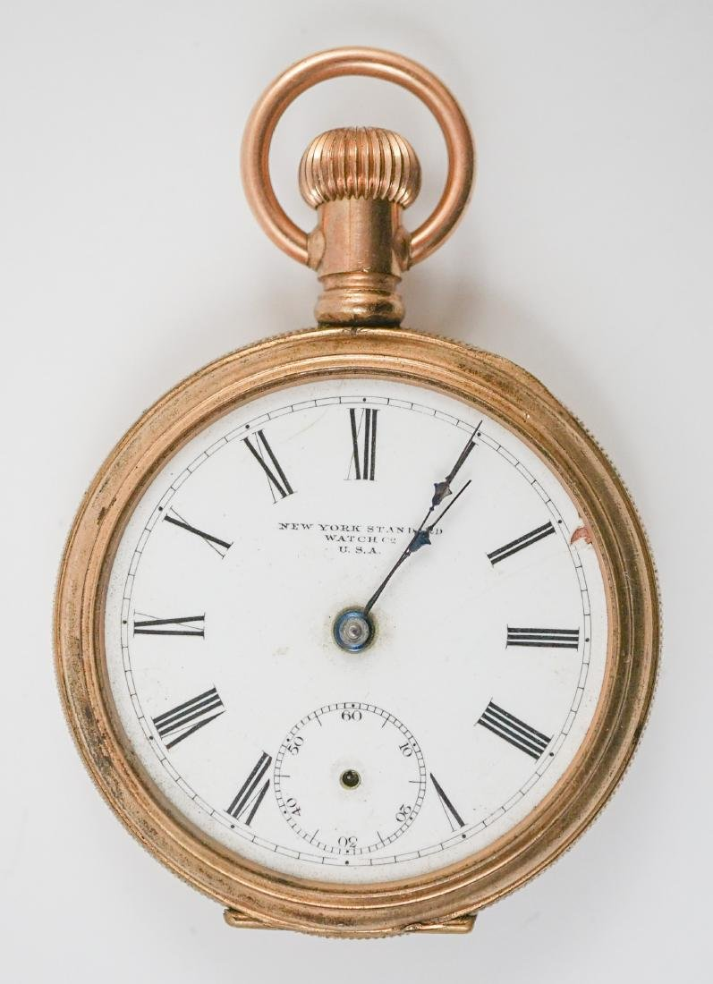 New York Standard 14K Gold Pocket Watch