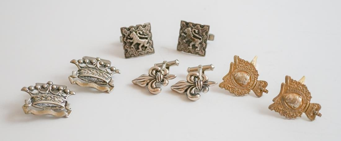 Four Pairs Sterling Cufflinks