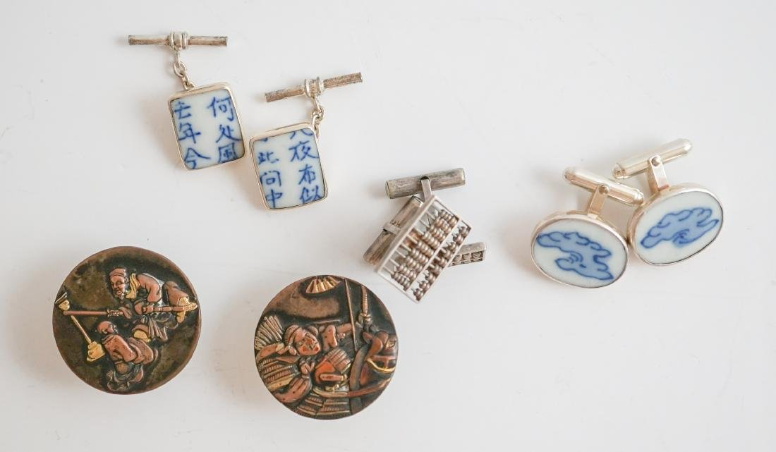 Chinese and Japanese Cufflinks