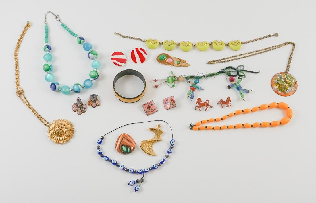 Group of Mid-Century and Designer Costume Jewelry
