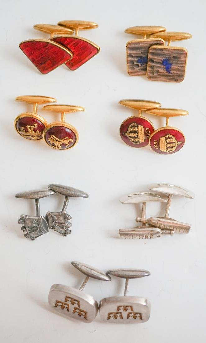 Seven Pairs Sporrong Designer Cufflinks