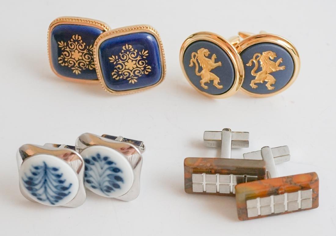 Four Pairs Scandinavian Designer Cufflinks