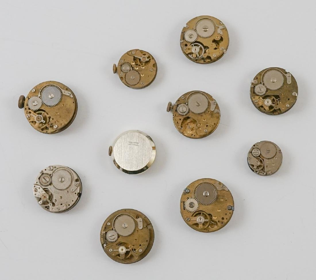 Ten Vintage Watch Movements with Dials - 2