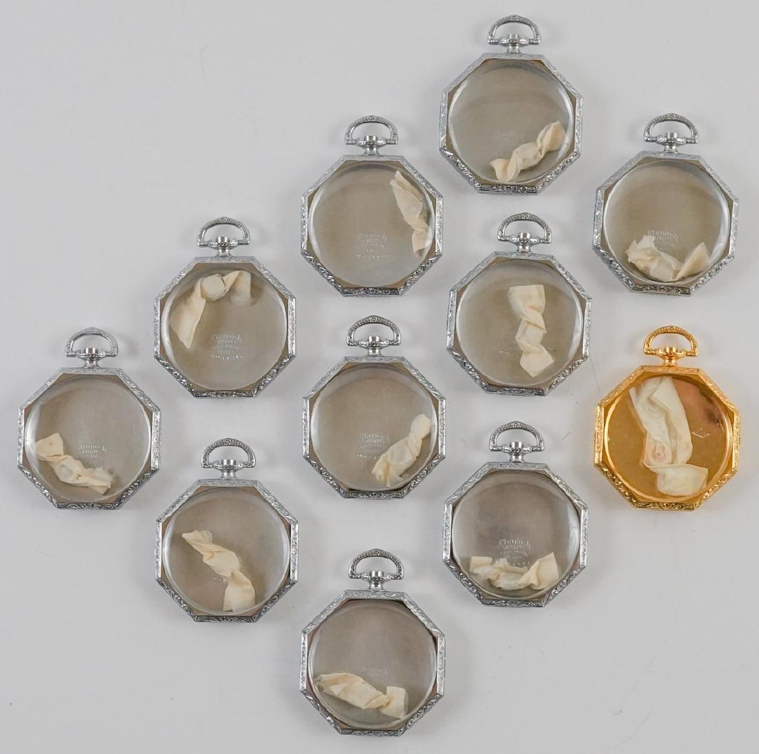 Eleven Vintage NOS Pocket Watch Cases