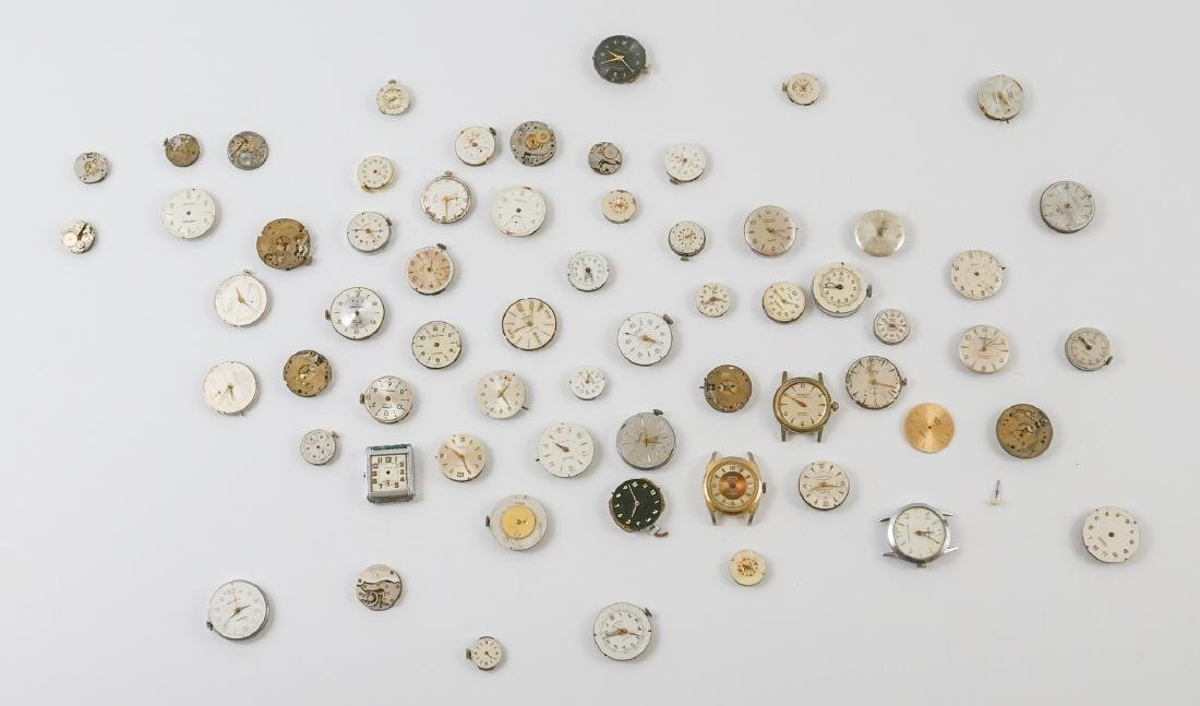 Group of Vintage Watch Movements and Dials