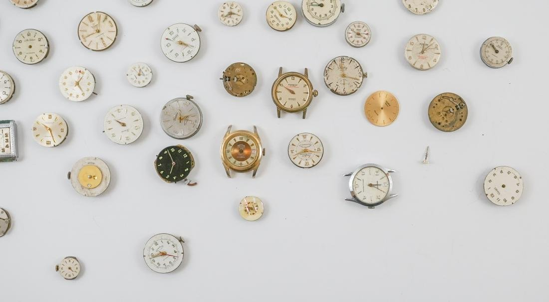 Group of Vintage Watch Movements and Dials - 2