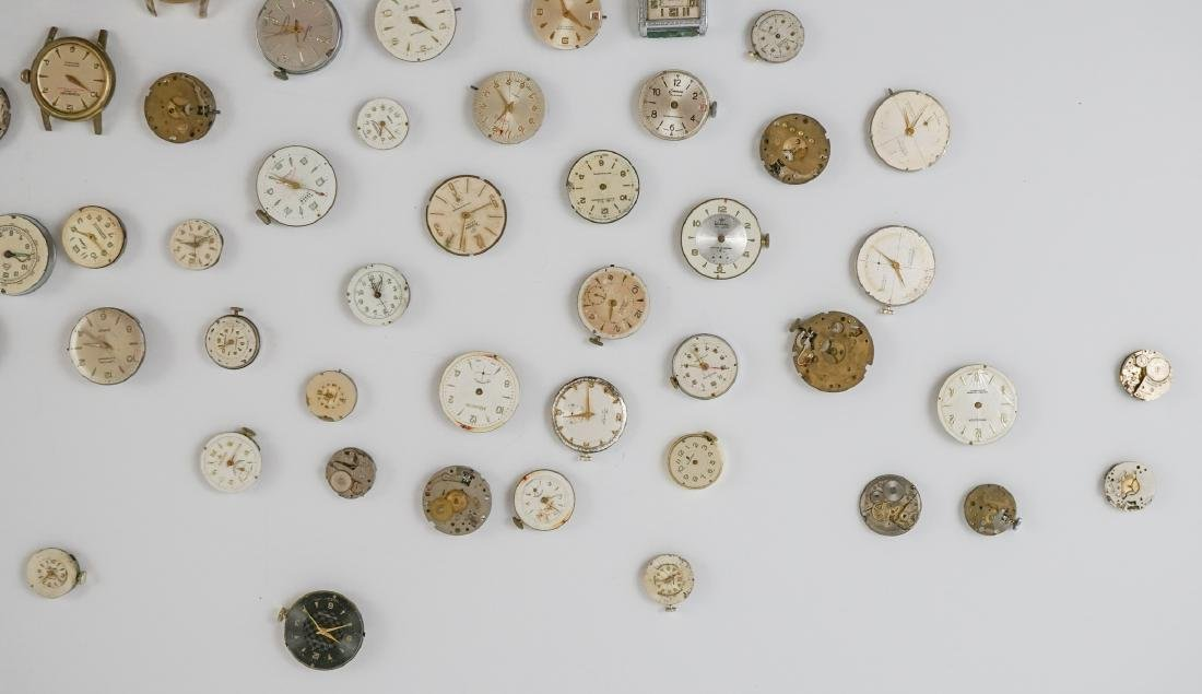 Group of Vintage Watch Movements and Dials - 4