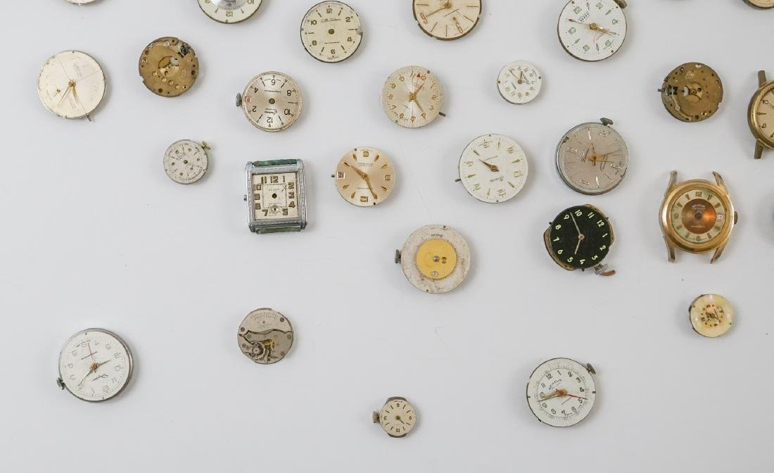 Group of Vintage Watch Movements and Dials - 5
