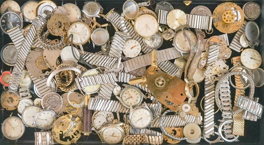 Large Group of Watch Parts and Pieces - 2
